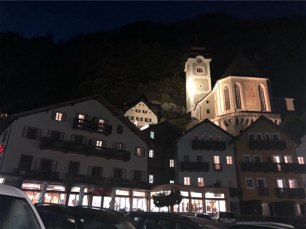 夜のヘリテージ ホテル ハルシュタット