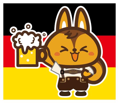 ウイズリス ドイツでビール