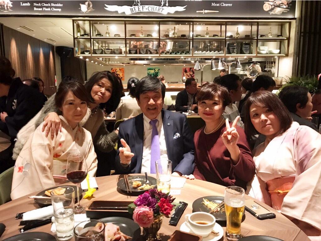 福岡新年会_社長とウイズエージェントさん記念撮影